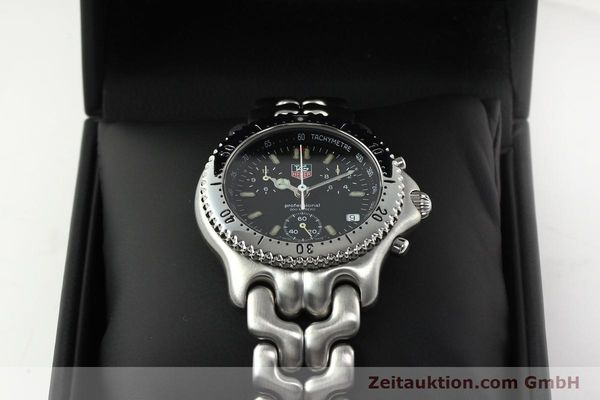 Used luxury watch Tag Heuer Professional chronograph steel quartz Kal. ETA 251.262 Ref. CG1110-0  | 142198 07
