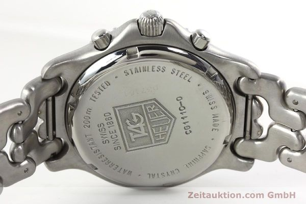 Used luxury watch Tag Heuer Professional chronograph steel quartz Kal. ETA 251.262 Ref. CG1110-0  | 142198 10