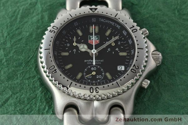 Used luxury watch Tag Heuer Professional chronograph steel quartz Kal. ETA 251.262 Ref. CG1110-0  | 142198 14