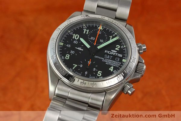 Used luxury watch Fortis Cosmonauts Chronograph chronograph steel automatic Kal. ETA 7750 Ref. 630.22.141  | 142199 04