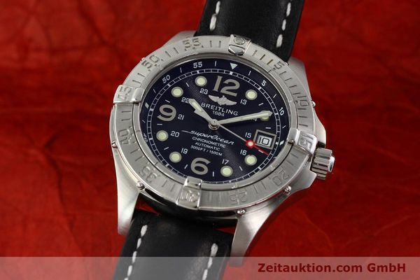 Used luxury watch Breitling Superocean steel automatic Kal. B17 ETA 2824-2 Ref. A17360  | 142210 04