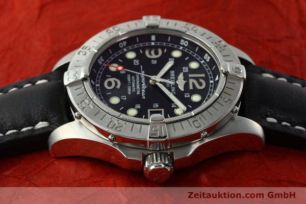 Used luxury watch Breitling Superocean steel automatic Kal. B17 ETA 2824-2 Ref. A17360  | 142210 05