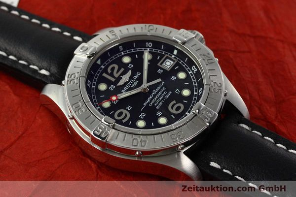Used luxury watch Breitling Superocean steel automatic Kal. B17 ETA 2824-2 Ref. A17360  | 142210 15