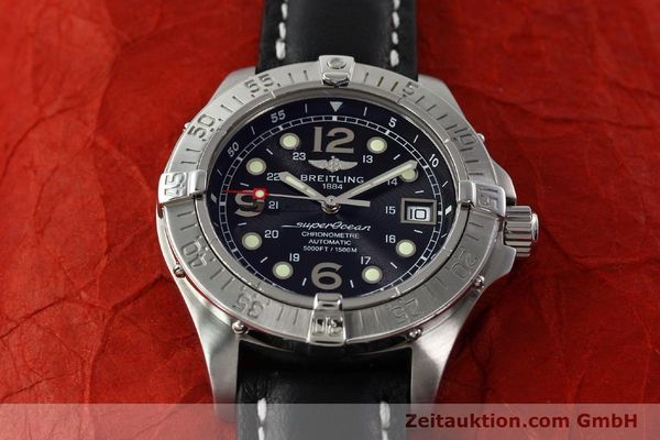 Used luxury watch Breitling Superocean steel automatic Kal. B17 ETA 2824-2 Ref. A17360  | 142210 16