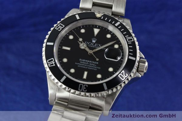 Used luxury watch Rolex Submariner steel automatic Kal. 3135 Ref. 16610  | 142213 04