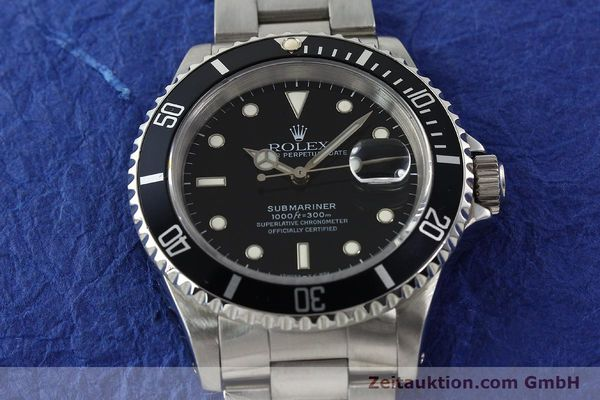 Used luxury watch Rolex Submariner steel automatic Kal. 3135 Ref. 16610  | 142213 16
