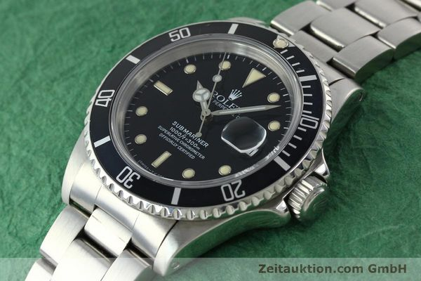 Used luxury watch Rolex Submariner steel automatic Kal. 3135 Ref. 16610  | 142214 01