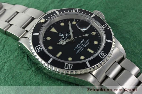 Used luxury watch Rolex Submariner steel automatic Kal. 3135 Ref. 16610  | 142214 15