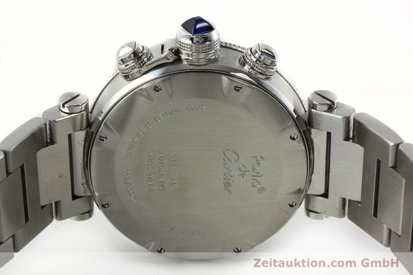 Used luxury watch Cartier Pasha chronograph steel automatic Kal. 8630 ETA 7758  | 142215 09