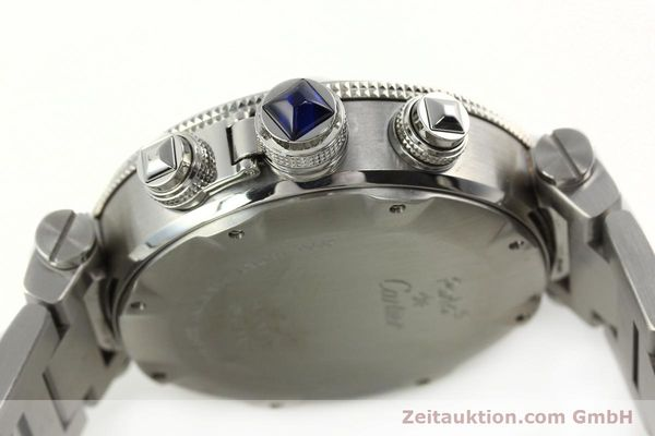 Used luxury watch Cartier Pasha chronograph steel automatic Kal. 8630 ETA 7758  | 142215 11