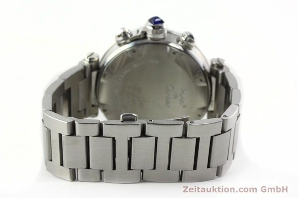 Used luxury watch Cartier Pasha chronograph steel automatic Kal. 8630 ETA 7758  | 142215 12