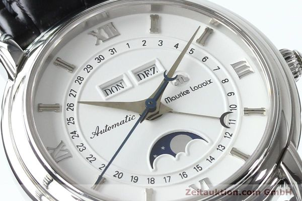 Used luxury watch Maurice Lacroix Masterpiece steel automatic Kal. ETA 2824-2 Ref. 37767  | 142216 02