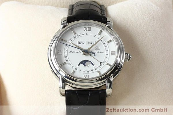 Used luxury watch Maurice Lacroix Masterpiece steel automatic Kal. ETA 2824-2 Ref. 37767  | 142216 07