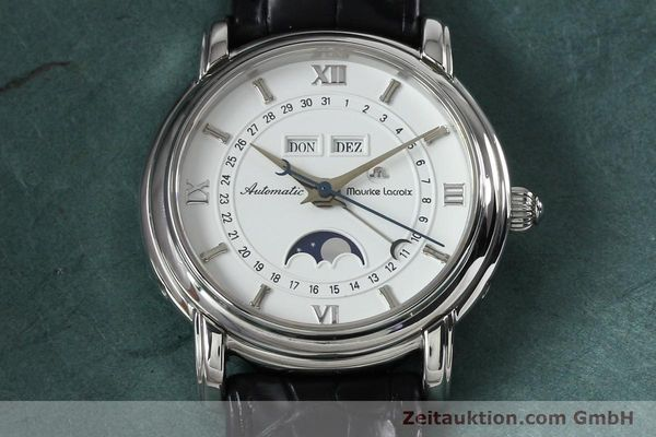 Used luxury watch Maurice Lacroix Masterpiece steel automatic Kal. ETA 2824-2 Ref. 37767  | 142216 18