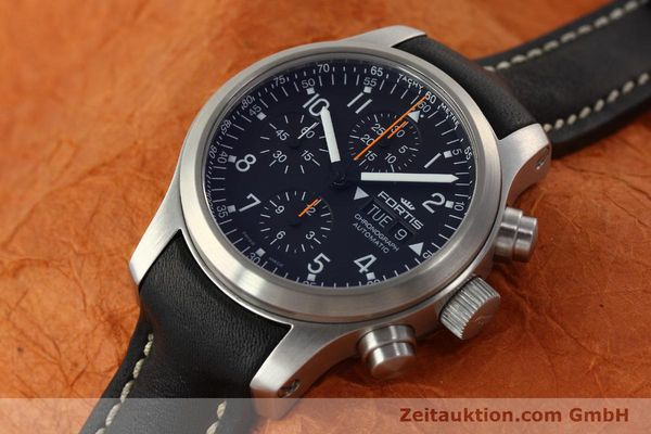 Used luxury watch Fortis B42 chronograph steel automatic Kal. ETA 7750 Ref. 635.10.141.3  | 142220 01