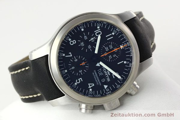 Used luxury watch Fortis B42 chronograph steel automatic Kal. ETA 7750 Ref. 635.10.141.3  | 142220 03