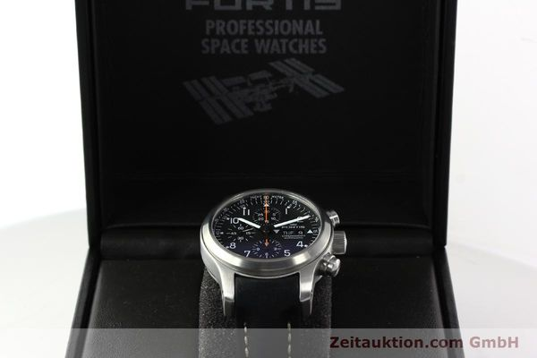 Used luxury watch Fortis B42 chronograph steel automatic Kal. ETA 7750 Ref. 635.10.141.3  | 142220 07