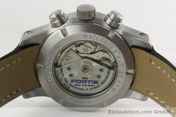 Used luxury watch Fortis B42 chronograph steel automatic Kal. ETA 7750 Ref. 635.10.141.3  | 142220 11