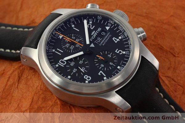 Used luxury watch Fortis B42 chronograph steel automatic Kal. ETA 7750 Ref. 635.10.141.3  | 142220 15
