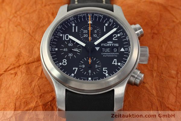 Used luxury watch Fortis B42 chronograph steel automatic Kal. ETA 7750 Ref. 635.10.141.3  | 142220 16