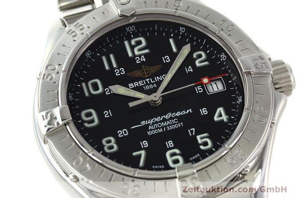 Used luxury watch Breitling Superocean steel automatic Kal. B17 ETA 2824-2 Ref. A17340  | 142227 02