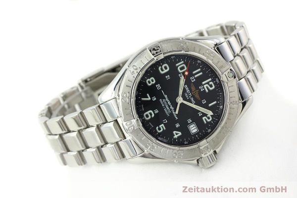 Used luxury watch Breitling Superocean steel automatic Kal. B17 ETA 2824-2 Ref. A17340  | 142227 03