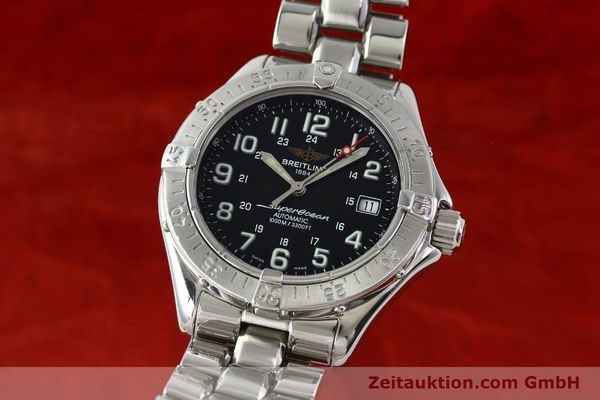 Used luxury watch Breitling Superocean steel automatic Kal. B17 ETA 2824-2 Ref. A17340  | 142227 04