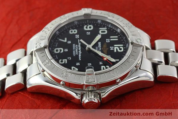 Used luxury watch Breitling Superocean steel automatic Kal. B17 ETA 2824-2 Ref. A17340  | 142227 05