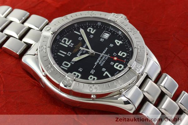 Used luxury watch Breitling Superocean steel automatic Kal. B17 ETA 2824-2 Ref. A17340  | 142227 13