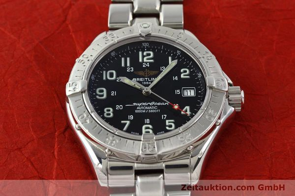 Used luxury watch Breitling Superocean steel automatic Kal. B17 ETA 2824-2 Ref. A17340  | 142227 14