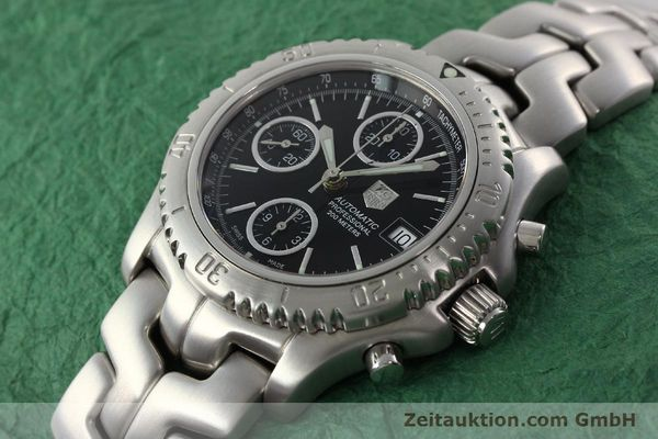 Used luxury watch Tag Heuer Link chronograph steel automatic Kal. ETA 7750 Ref. CT2111  | 142231 01