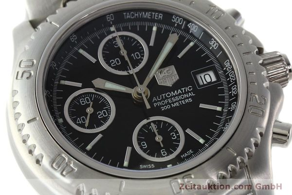 Used luxury watch Tag Heuer Link chronograph steel automatic Kal. ETA 7750 Ref. CT2111  | 142231 02