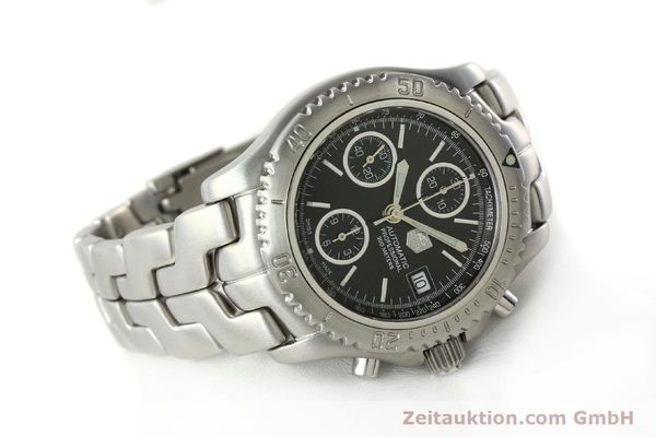 Used luxury watch Tag Heuer Link chronograph steel automatic Kal. ETA 7750 Ref. CT2111  | 142231 03