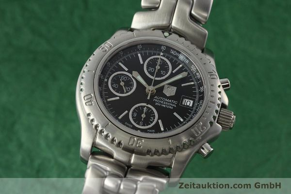 Used luxury watch Tag Heuer Link chronograph steel automatic Kal. ETA 7750 Ref. CT2111  | 142231 04