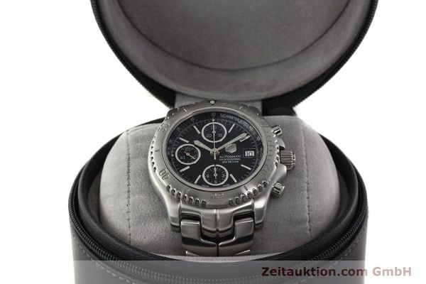 Used luxury watch Tag Heuer Link chronograph steel automatic Kal. ETA 7750 Ref. CT2111  | 142231 07