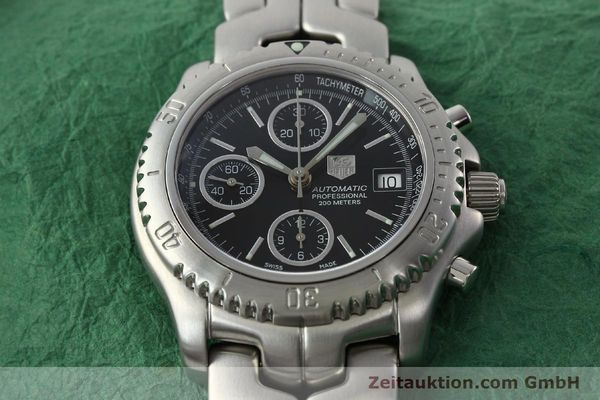Used luxury watch Tag Heuer Link chronograph steel automatic Kal. ETA 7750 Ref. CT2111  | 142231 17