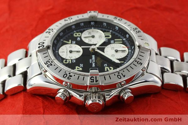 Used luxury watch Breitling Colt chronograph steel automatic Kal. B13 ETA 7750 Ref. A13035.1  | 142235 05