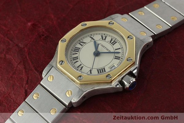 Used luxury watch Cartier Santos steel / gold quartz Kal. 87  | 142240 01