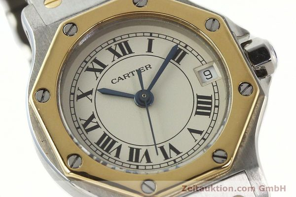 Used luxury watch Cartier Santos steel / gold quartz Kal. 87  | 142240 02