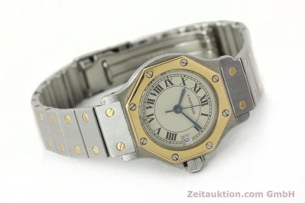 Used luxury watch Cartier Santos steel / gold quartz Kal. 87  | 142240 03