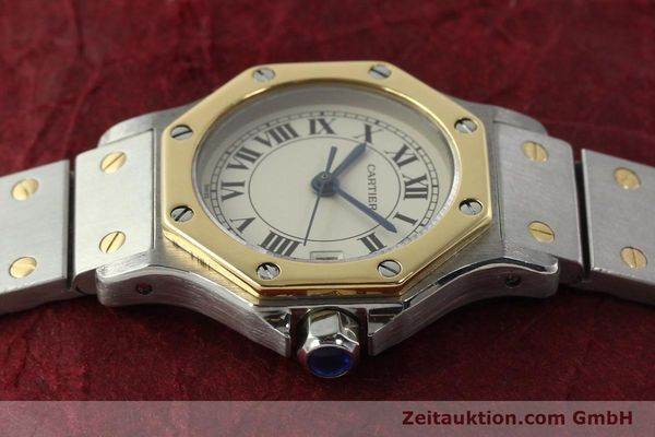 Used luxury watch Cartier Santos steel / gold quartz Kal. 87  | 142240 05