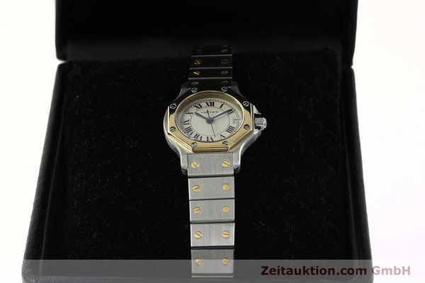 Used luxury watch Cartier Santos steel / gold quartz Kal. 87  | 142240 07