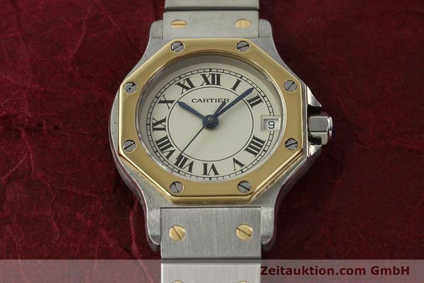Used luxury watch Cartier Santos steel / gold quartz Kal. 87  | 142240 13