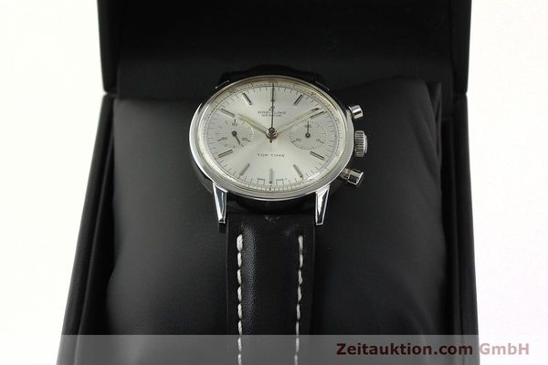 Used luxury watch Breitling Top Time chronograph steel manual winding Kal. Venus 188 Ref. 2002  | 142244 07