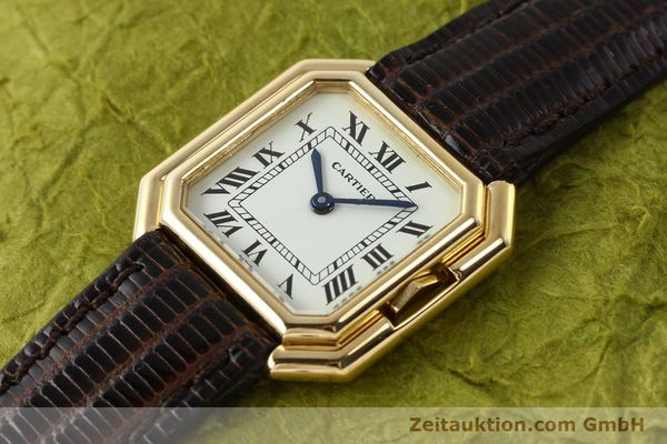Used luxury watch Cartier * 18 ct gold manual winding Kal. 71-1 ETA 7512-1  | 142249 01
