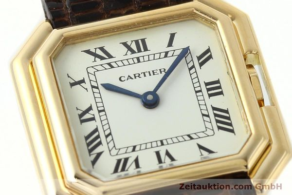 Used luxury watch Cartier * 18 ct gold manual winding Kal. 71-1 ETA 7512-1  | 142249 02