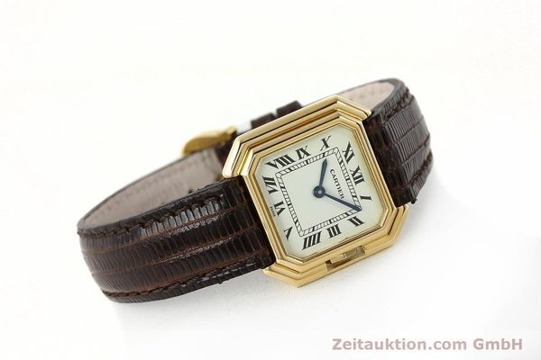 Used luxury watch Cartier * 18 ct gold manual winding Kal. 71-1 ETA 7512-1  | 142249 03