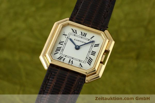 Used luxury watch Cartier * 18 ct gold manual winding Kal. 71-1 ETA 7512-1  | 142249 04