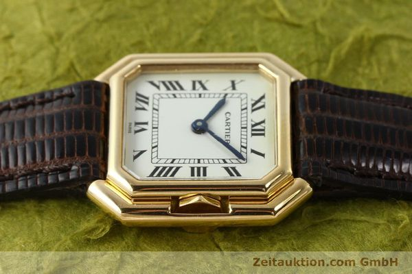 Used luxury watch Cartier * 18 ct gold manual winding Kal. 71-1 ETA 7512-1  | 142249 05