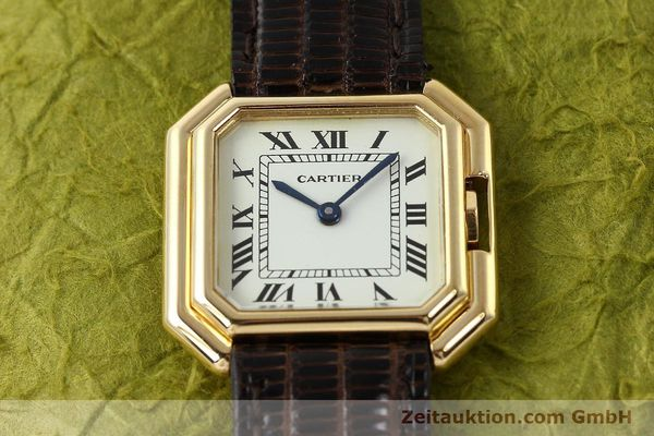 Used luxury watch Cartier * 18 ct gold manual winding Kal. 71-1 ETA 7512-1  | 142249 13